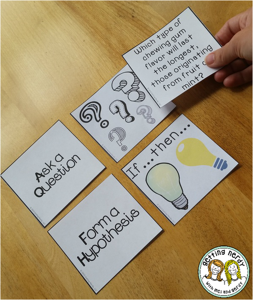 Scientific method Card Sort Getting Nerdy