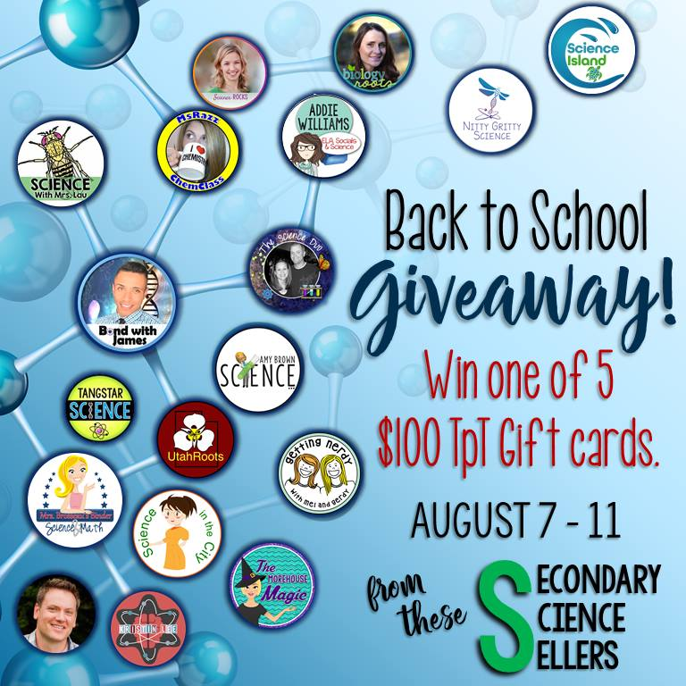 Secondary Science Giveaway 2017