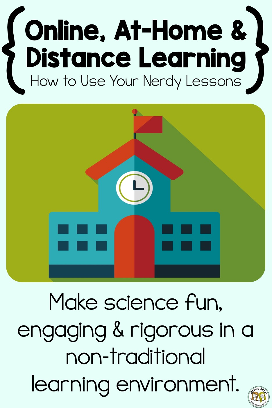 Learn how to use your Getting Nerdy resources with Google Classroom for online, at-home, distance learning, homeschool and non-traditional classroom environments. #distancelearning #homeschoolscience #gettingnerdyscience