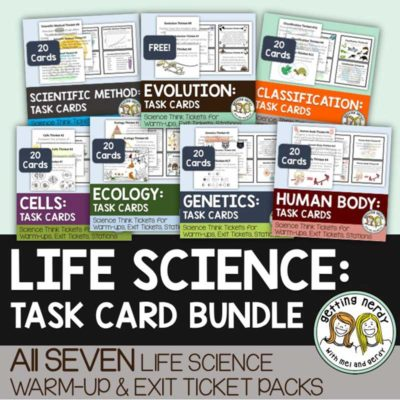Life-Science-and-Biology-Task-Card-Bundle