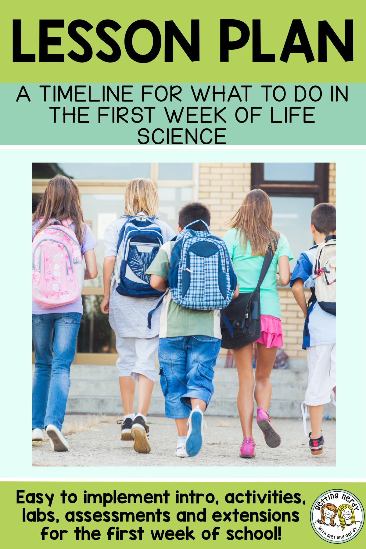 Set the tone for the rest of the year with this first week back to school timeline and lesson plan #gettingnerdyscience #firstweekofschool #backtoschool