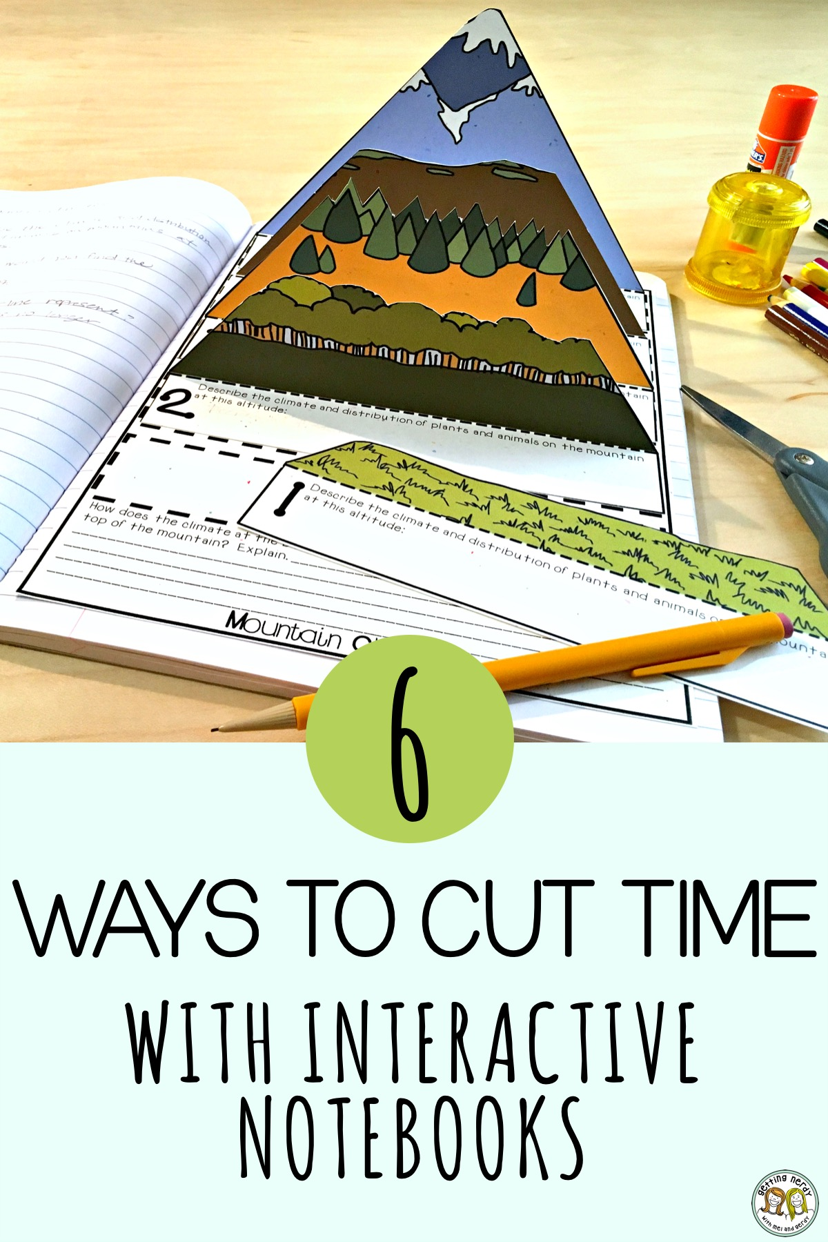 Does the task of cutting paper waste class time when using interactive notebooks? Try these teacher-tested time-savers and love INBs all over again! #gettingnerdyscience #interactivenotebook #ISN